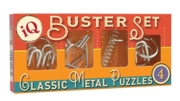 PUZZLES,IQ Busters Classic Metal Puzzles 4 Asst.