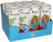 COLOURING & CRAFT TUBES 2 Assorted CDU