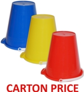 BUCKET,Round High Gloss 9in (Multi Carton Price,3x48pc)