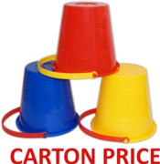 BUCKET,Round Sm 5.5in, Asst Colours (Carton Price,144pc)