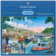 JIGSAW,1000pc.First Catch, Mevagissey(Gibson)