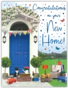 GREETING CARDS,New Home 6's Blue Front Door