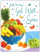 GREETING CARDS,Get Well 6's Fruit