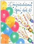 GREETING CARDS,Congratulations 6's Balloons & Streamers