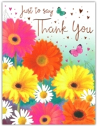 GREETING CARDS,Thank You 6's Floral