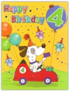 GREETING CARDS,Age 4 Male 6's Dog in Car