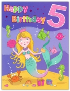 GREETING CARDS,Age 5 Female 6's Mermaid