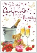 GREETING CARDS,Girlfriend 6's Teddy, Roses & Champagne