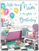 GREETING CARDS,Mum 6's Relax in the Bath