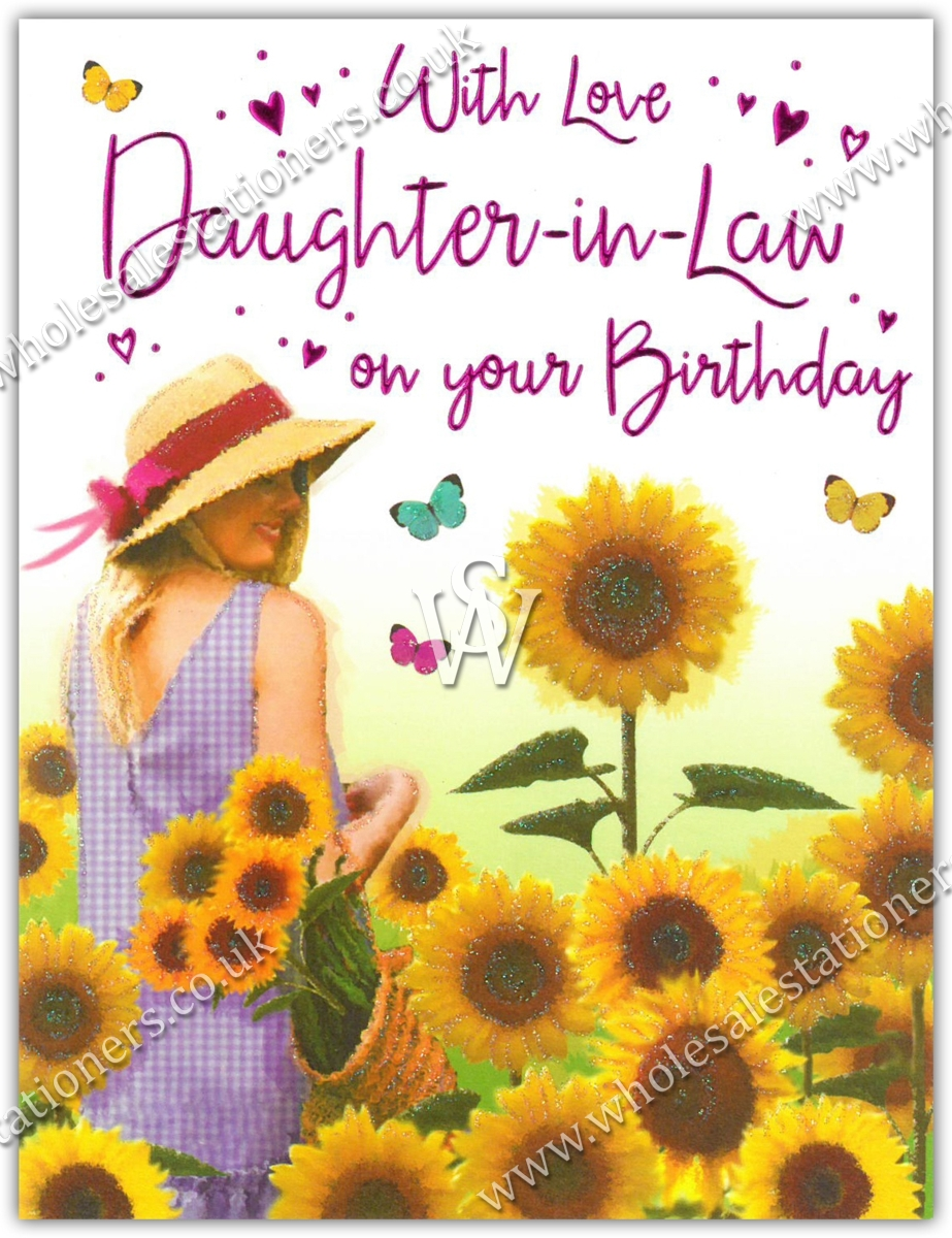 GREETING CARDSDaughter In Law 6s Sunflowers