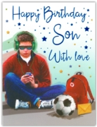 GREETING CARDS,Son 6's Listening to Music