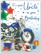 GREETING CARDS,Uncle 6's Motorbike & Beer