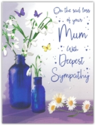 GREETING CARDS,Loss of Mum 6's Snowdrops