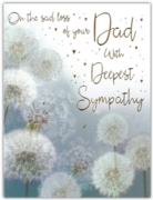 GREETING CARDS,Loss of Dad 6's Dandelions