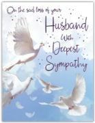 GREETING CARDS,Loss of Husband 6's Doves