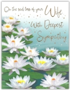 GREETING CARDS,Loss of Wife 6's Waterlilies