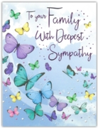 GREETING CARDS,Family Sympathy 6's Butterflies