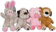 PATCH ANIMALS,Sitting 20cm 4 Assorted (Assortment A)