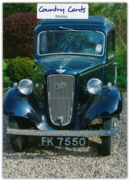 GREETING CARDS,Birthday 6's 1936 Austin Seven