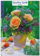 GREETING CARDS,Birthday 6's Apricot Rose in Vase