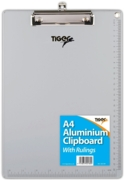 CLIPBOARD,Aluminium A4 With Rulings (Tiger)