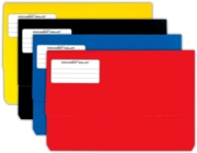 DOCUMENT WALLET,Bright Cols. Asst. Foolscap