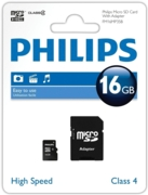 MEMORY CARD,Micro SDHC 16GB & SD Adaptor I/cd Philips