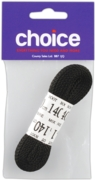 LACES,Football Black (1 Pair) 140cm I/cd