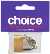 PADLOCK,Brass 30mm I/cd