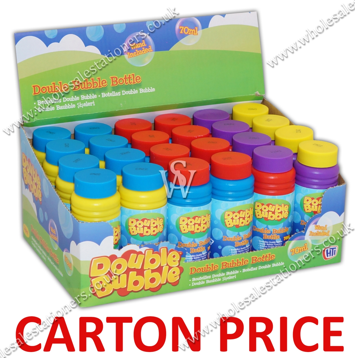 BUBBLE TUBS,70ml CDU (Carton Price,6x24pc)