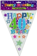 BUNTING,40th Birthday Unisex