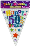 BUNTING,50th Birthday Unisex