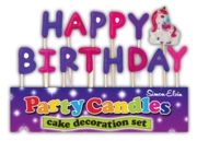 CAKE CANDLES,Happy Birthday Unicorn & Letters