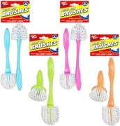 Dish Wash Brush,Pack of 2 Asst.Cols Hang Pack