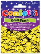 CONFETTI,Table Foil Stars Gold 11mm H/pk