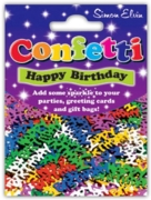 CONFETTI,Table Foil Happy Birthday Multi H/pk
