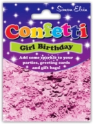 CONFETTI,Table Foil Happy Birthday Pink Mix H/pk