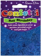 CONFETTI,Table Foil Happy Birthday Blue Mix H/pk