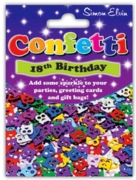 CONFETTI,Table Foil 18th H/pk