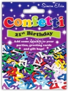 CONFETTI,Table Foil 21st H/pk