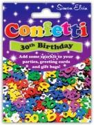 CONFETTI,Table Foil 30th H/pk