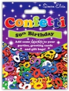 CONFETTI,Table Foil 50th H/pk