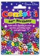 CONFETTI,Table Foil 60th H/pk