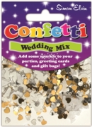 CONFETTI,Table Foil Wedding Mix H/pk