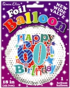 BALLOONS,Age 60 Male Helium Foil
