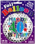 BALLOONS,Age 40 Male Helium Foil