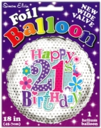 BALLOONS,Age 21 Female Helium Foil