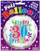 BALLOONS,Age 30 Female Helium Foil