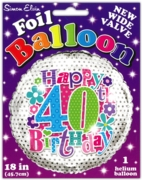 BALLOONS,Age 40 Female Helium Foil