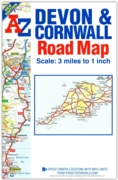 MAP,A-Z Devon And Cornwall Roads